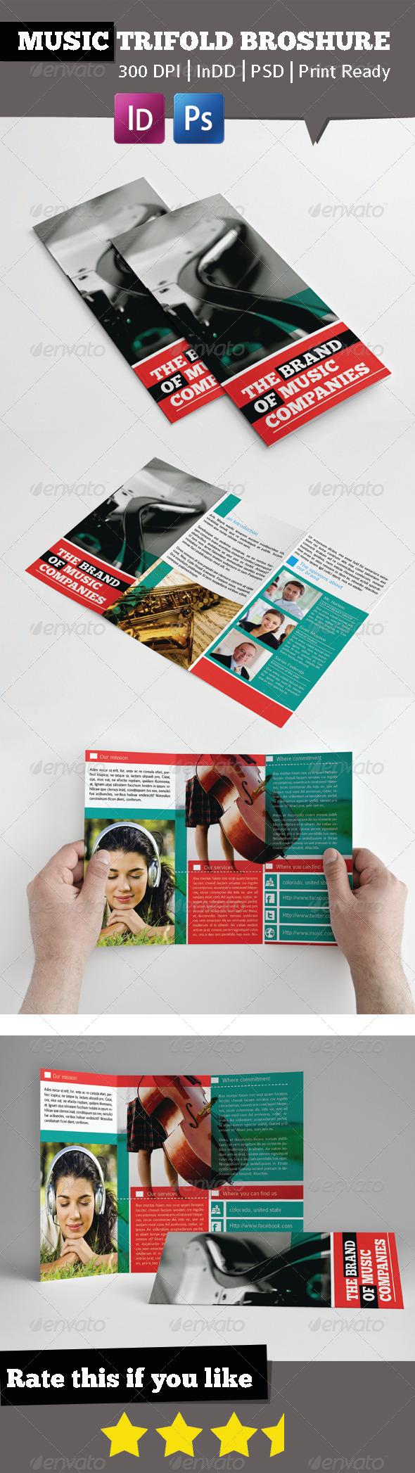 GraphicRiver Music Brand Trifold Broshure 5871432
