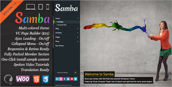 Samba wordpress theme download