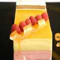 Mousse cake with strawberry topping - PhotoDune Item for Sale