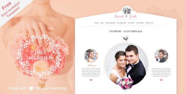 ThemeForest The Wedding Day Responsive Theme 5872261