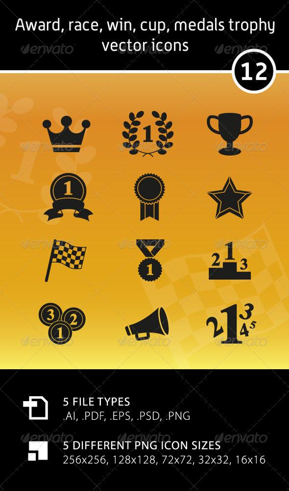 GraphicRiver Award Vector Icons 5872319