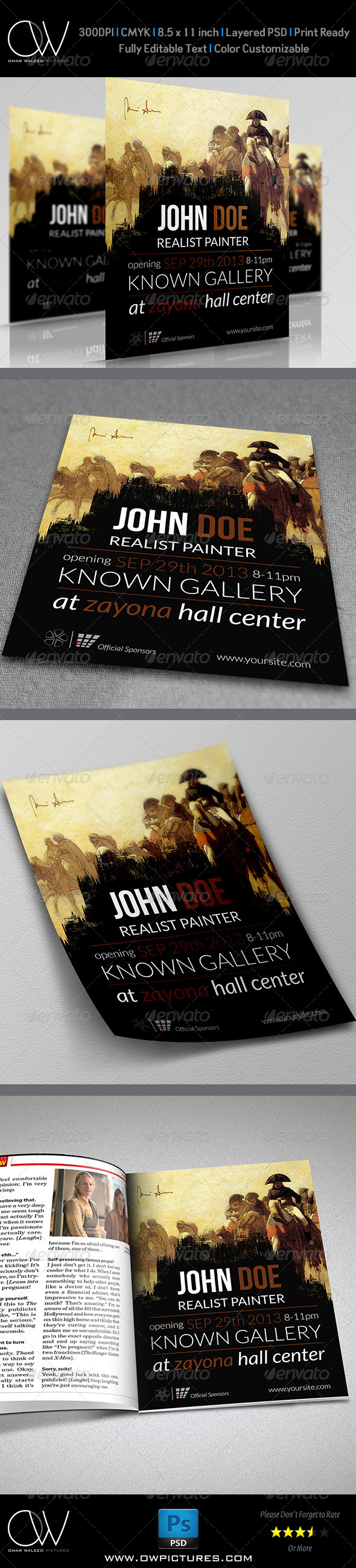 Gallery Flyer Template - Flyers Print Templates