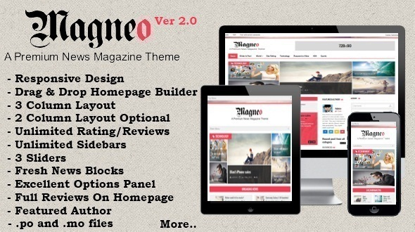 Magneo - Responsive News Magazine Theme - Blog / Magazine WordPress