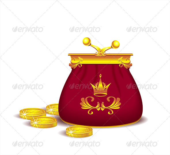 GraphicRiver Royal Purse with Coins or Concept of Profit 5868988