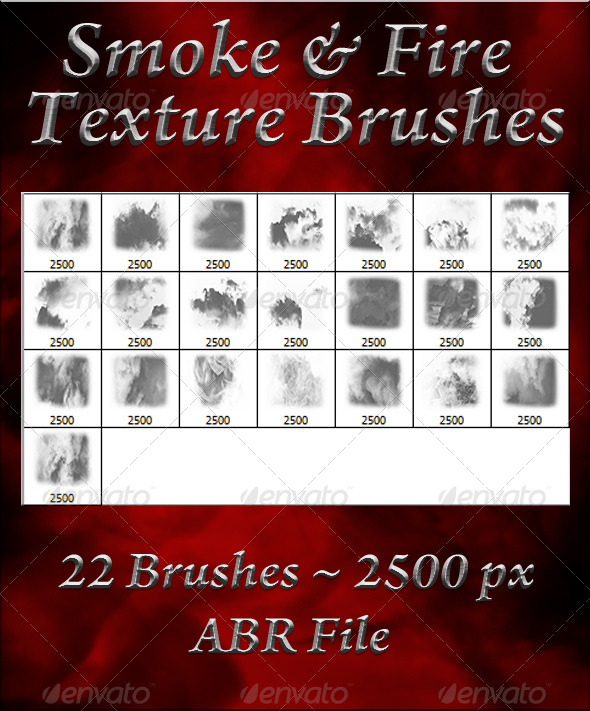 GraphicRiver Smoke & Fire Texture Brushes 5874075