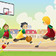 Kids Playing Basketball - GraphicRiver Item for Sale