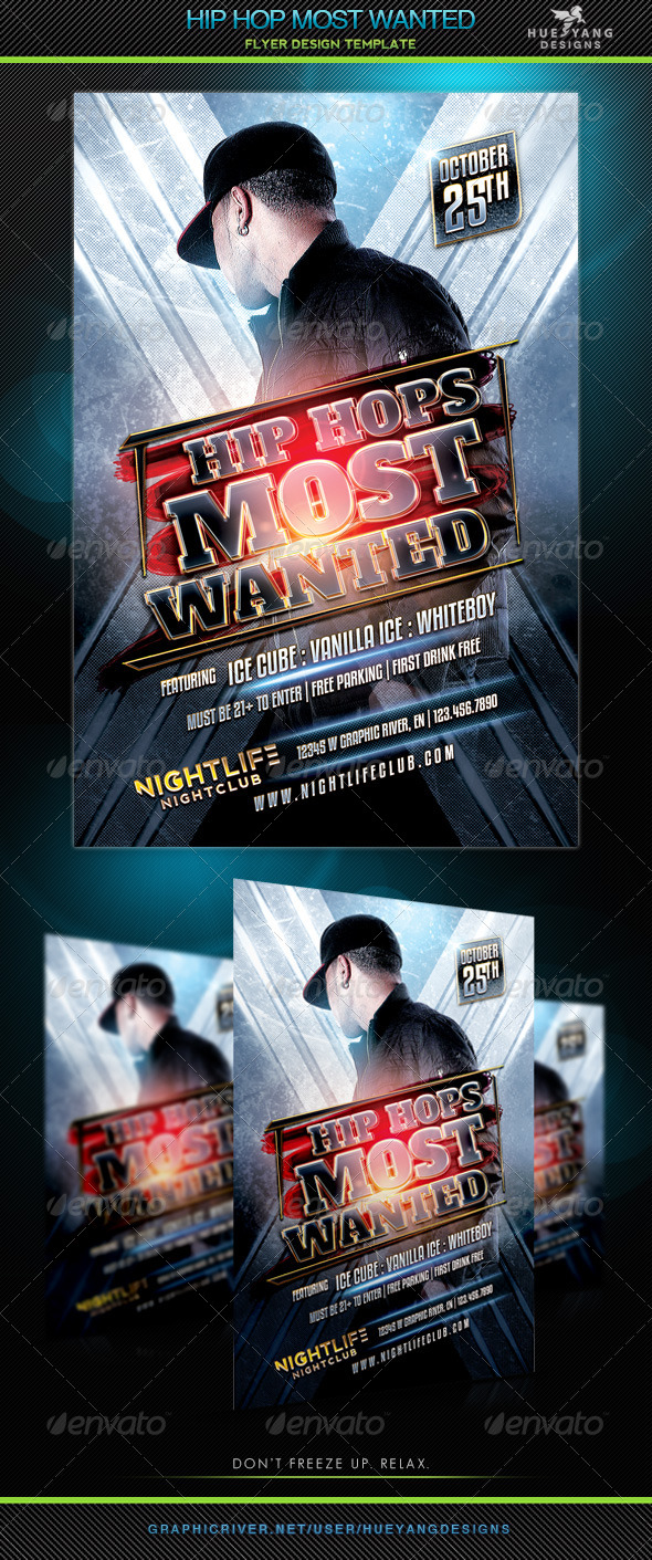 Hip Hop Most Wanted - Clubs & Parties Events