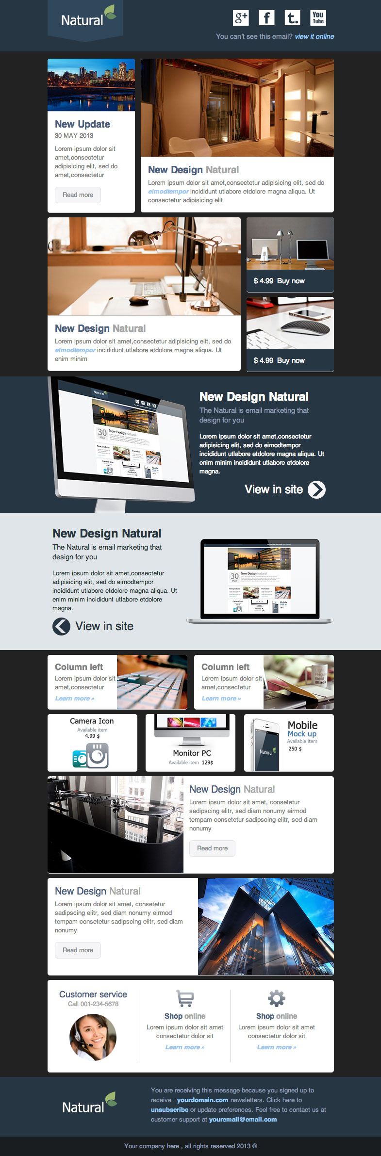Natural - Responsive Email Template