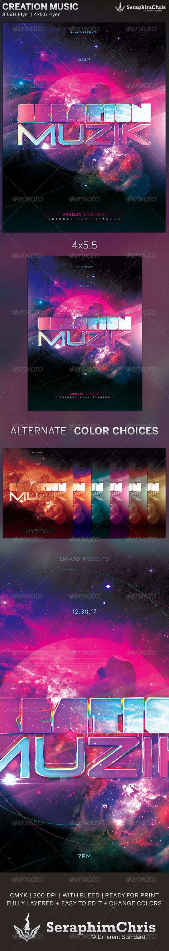 GraphicRiver Creation Music Event Flyer Template 5875653