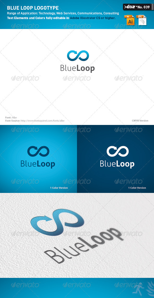 Blue Loop Logo Template - Symbols Logo Templates