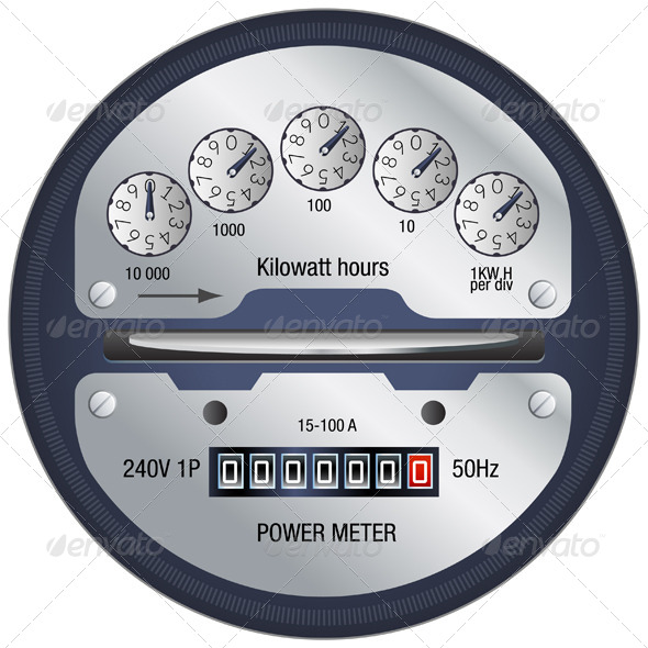 GraphicRiver Power Meter Illustration 5875965
