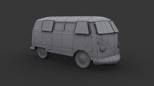 3DOcean VW Kombi Low Poly 5877675