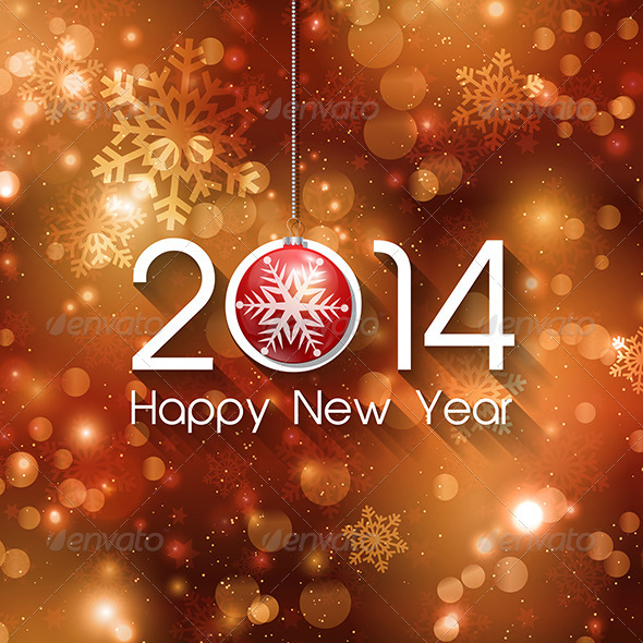 GraphicRiver New Year Background 5877676