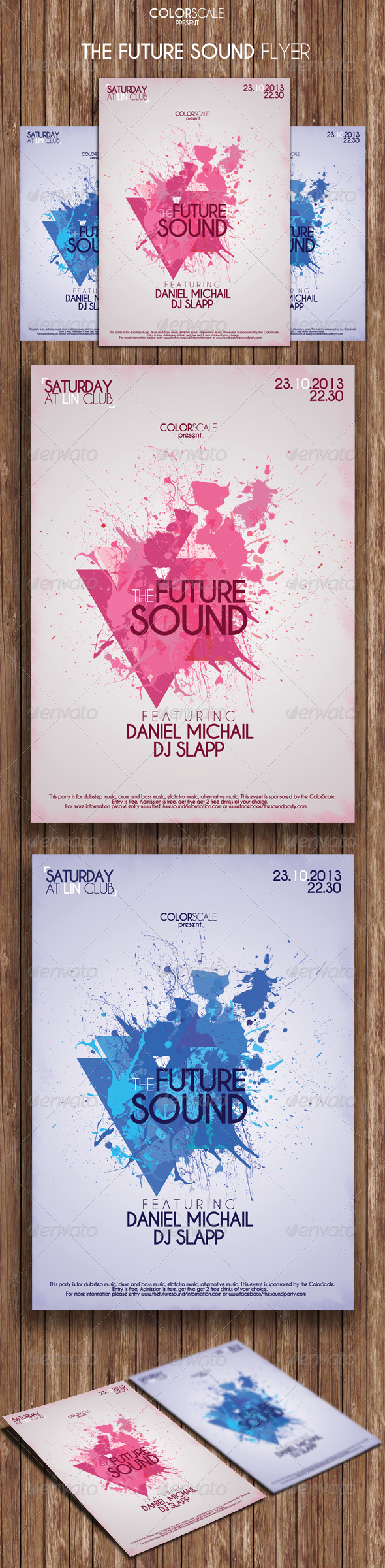 GraphicRiver The Future Sound Flyer 5879618