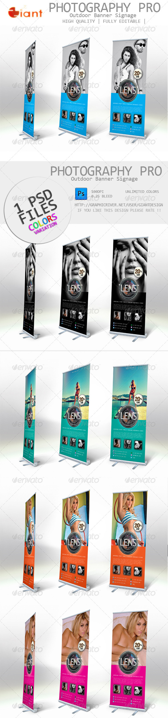 GraphicRiver Photography Pro Outdoor Banner Signage 5880430