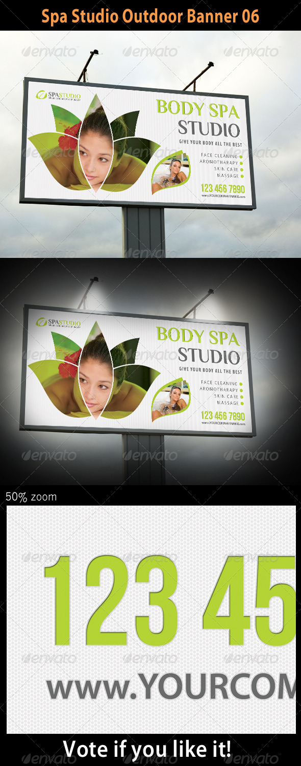 Spa Studio Outdoor Banner 06 - Signage Print Templates