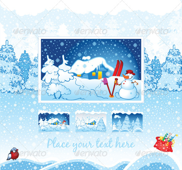 GraphicRiver Winter Holiday Nature Background 5869782