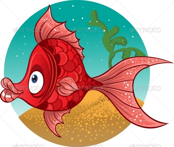 GraphicRiver Red Fish Vector 5881388