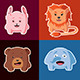 Cartoon Emblems of Animals - GraphicRiver Item for Sale