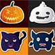 Cartoon Halloween Emblems - GraphicRiver Item for Sale