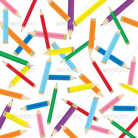 GraphicRiver Colored Pencil Background 5881976