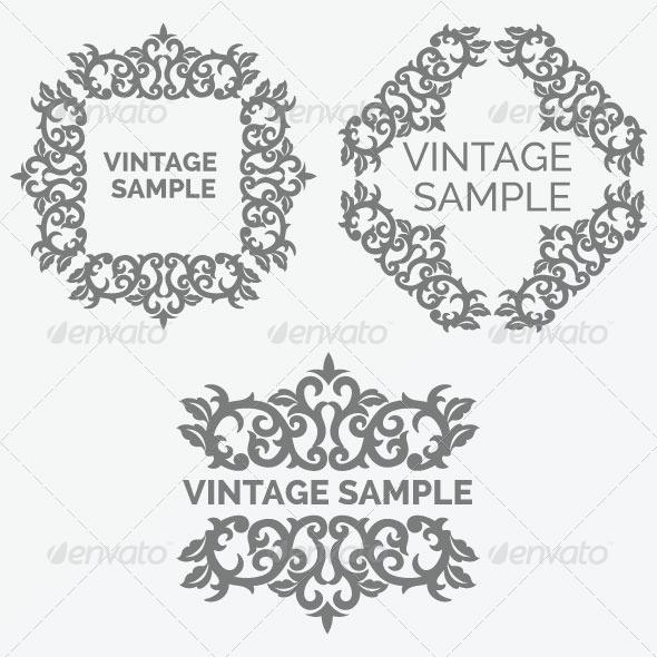GraphicRiver Vintage Frame 44 5882340