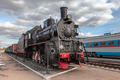 Old steam locomotive in railway museum  - PhotoDune Item for Sale