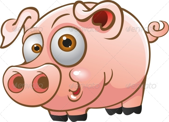 GraphicRiver Vector Young Pig 5882531