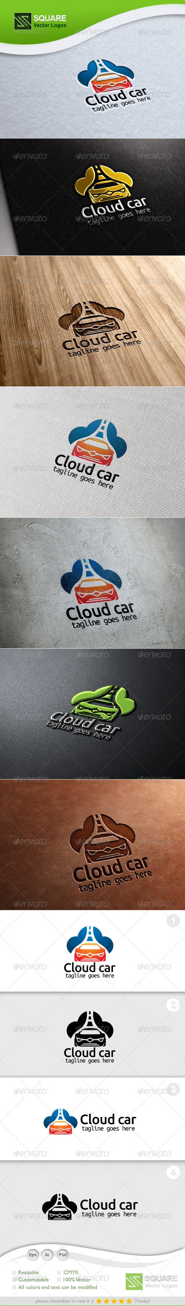 GraphicRiver Cloud Car Vector Logo Template 5883334