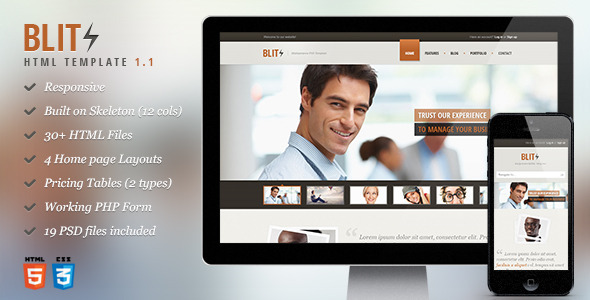 Blitz - Responsive HTML Template - Business Corporate