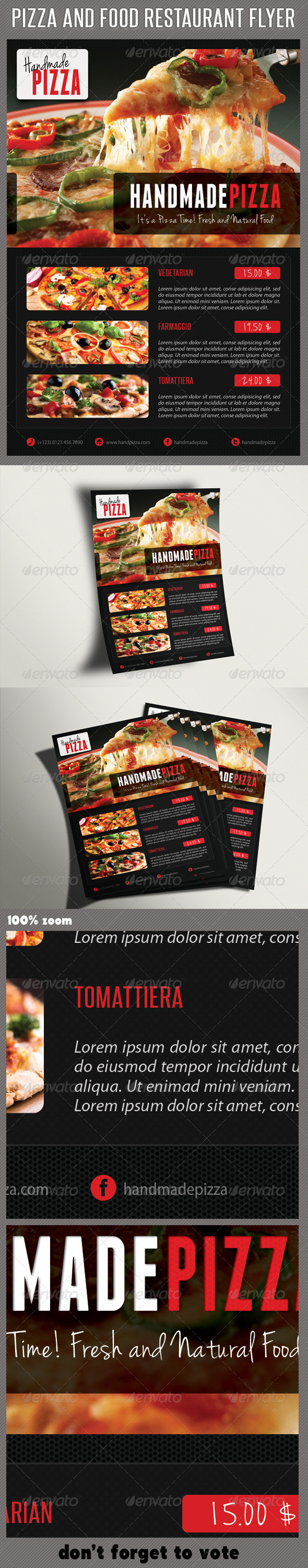 Food And Pizza Menu Flyer 02 - Restaurant Flyers
