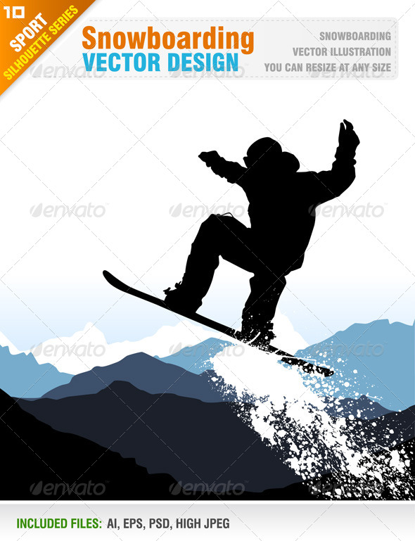 GraphicRiver Snowboarding 5883512