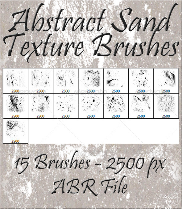 GraphicRiver Abstract Sand Texture Brushes 5883575