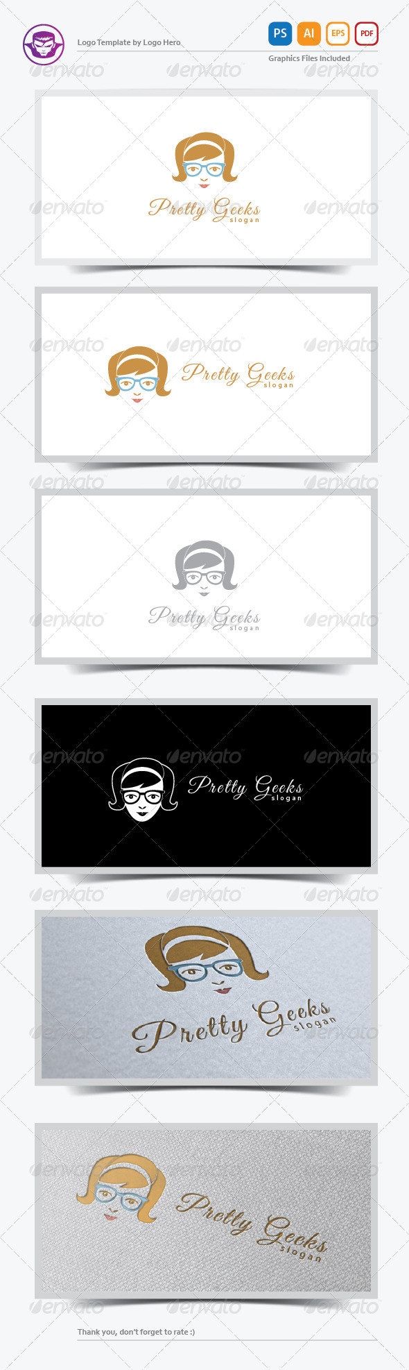 GraphicRiver Pretty Geeks Logo Template 5883953