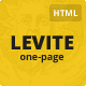 Levite - Creative Bold One-Page Portfolio - ThemeForest Item for Sale