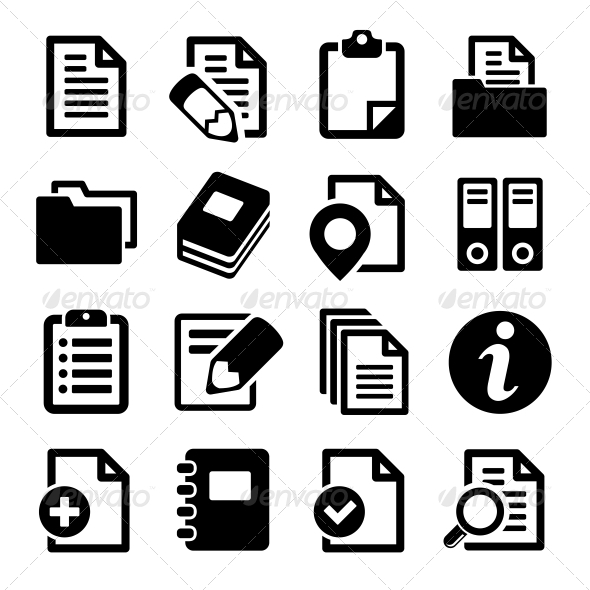 GraphicRiver Documents and Folders Icons Set 5884401