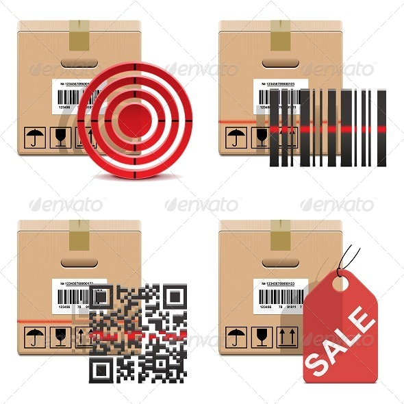 GraphicRiver Vector Shipment Icons Set 18 5884948