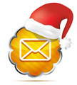 orange mail icon with Red Santa Claus Hat  isolated on a white b - PhotoDune Item for Sale