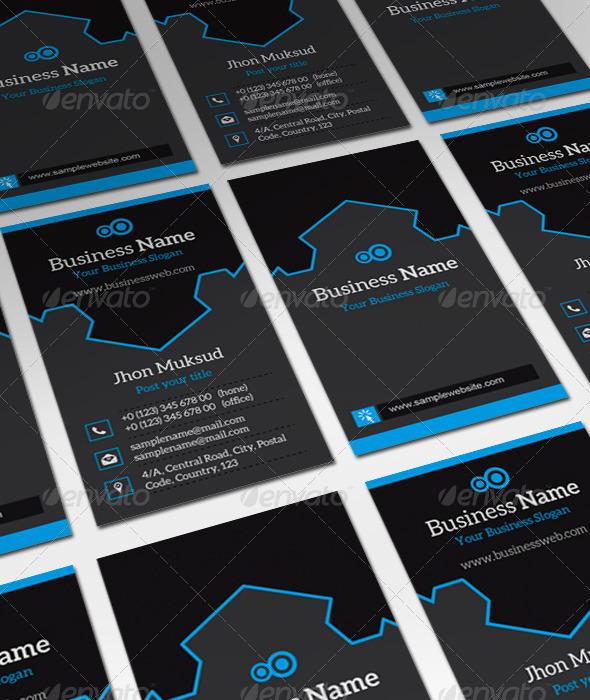 GraphicRiver Black Boy V2 Business Card 5839807