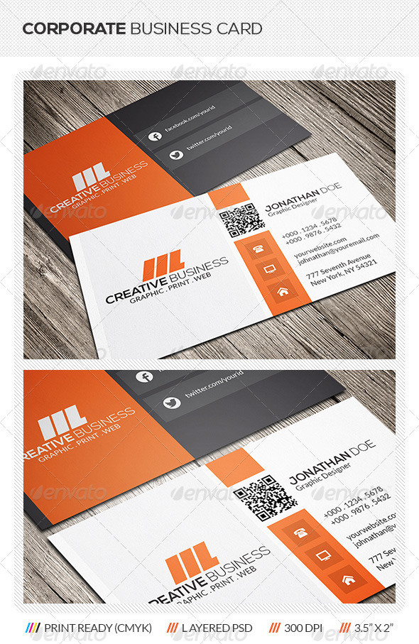 GraphicRiver Corporate Business Card 5885736