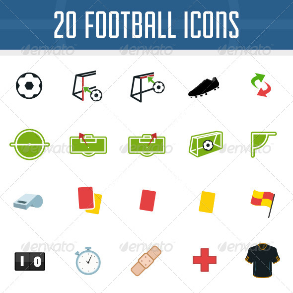GraphicRiver Football Icon Pack 5886040