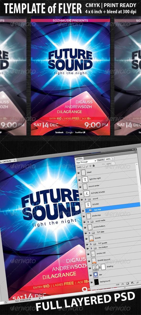 GraphicRiver Future Sound Flyer Template 5886055