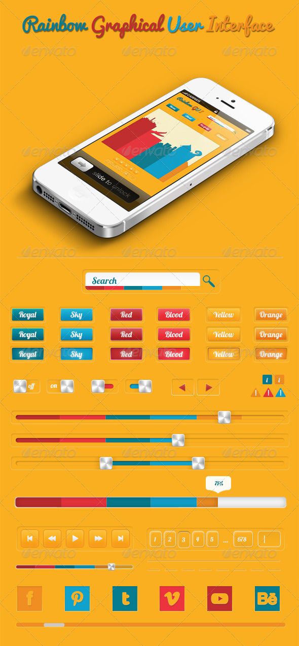 GraphicRiver Simple Graphic User Interfaces 4268004