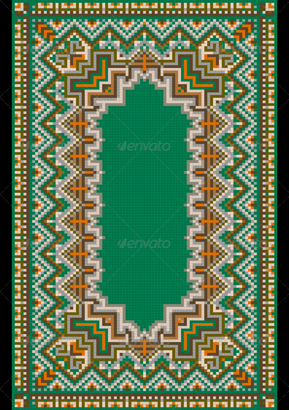 Pattern for Green Carpet - Stock Photo - Images