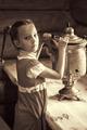 little girl with samovar - PhotoDune Item for Sale