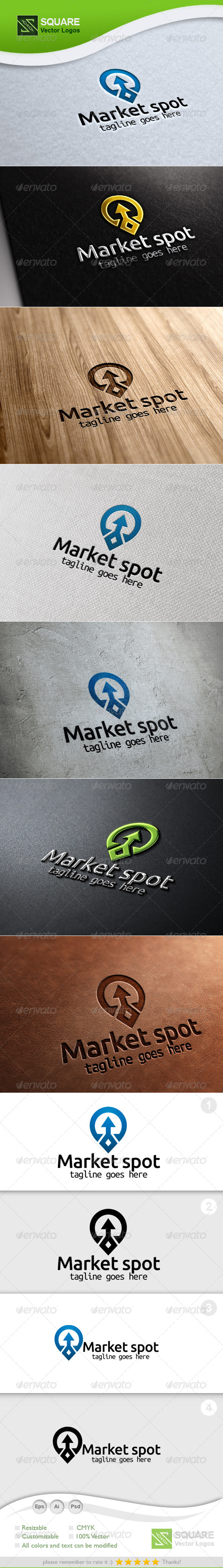 GraphicRiver Up Arrow Locator Vector Logo Template 5886512