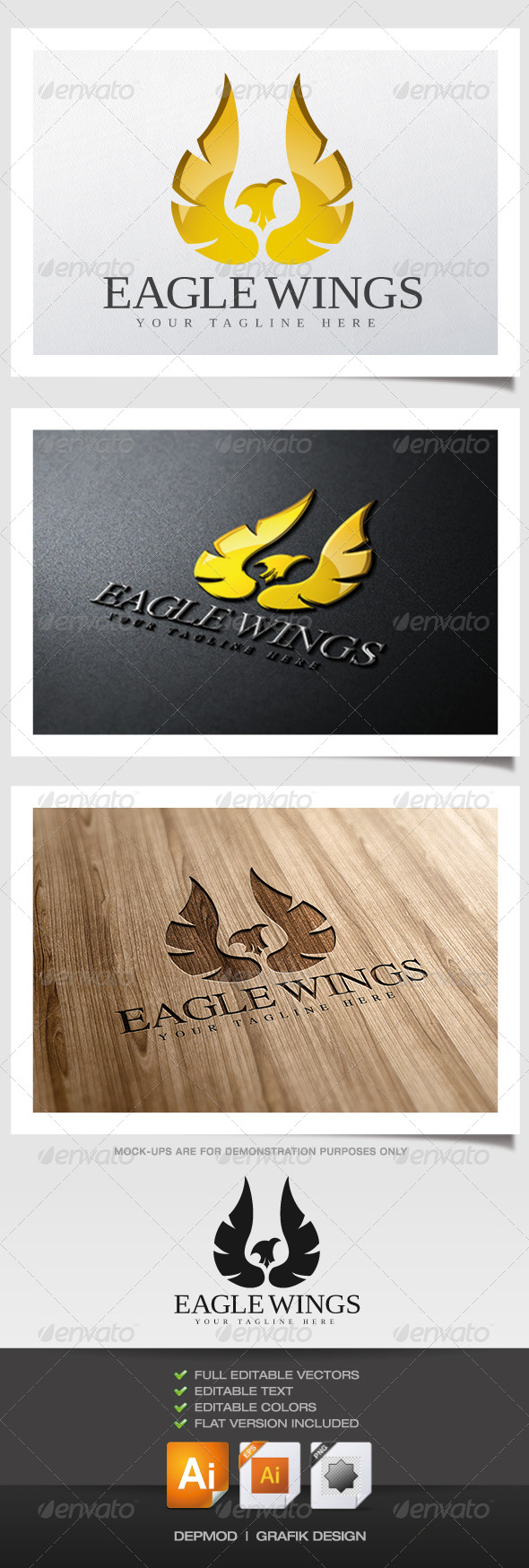 GraphicRiver Eagle Wings Logo 5879913