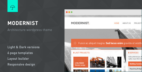 Modernist - Architecture&Engineer Wordpress Theme