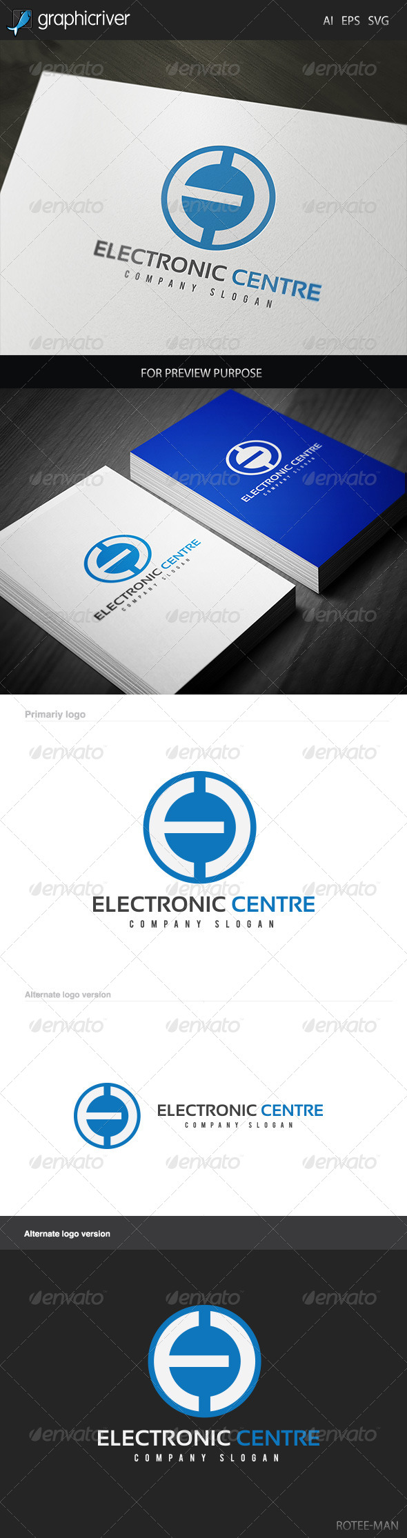 GraphicRiver Electronic Centre Logo 5887844
