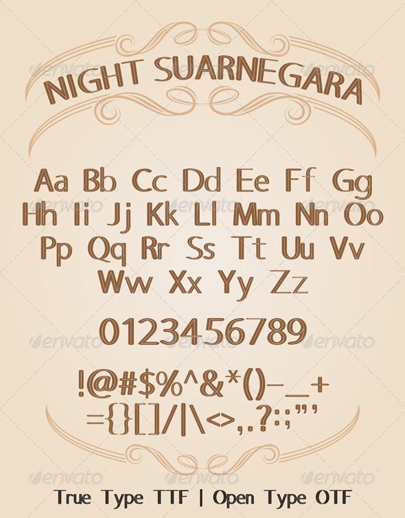 GraphicRiver Night Suarnegara Font 5888173